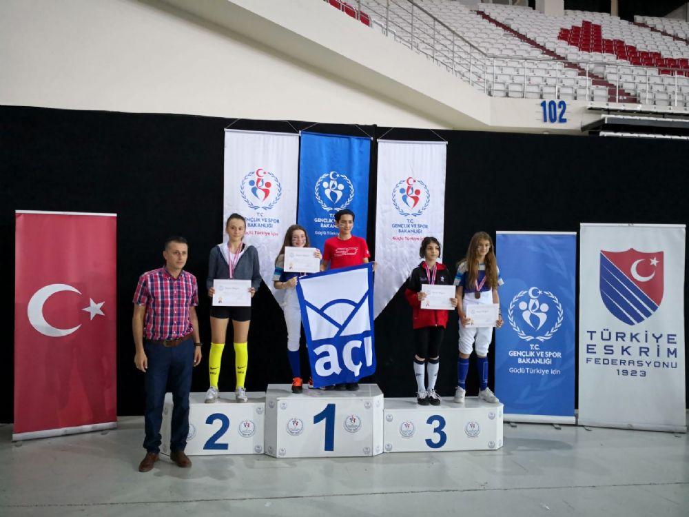 Okul Sporları Küçükler Türkiye Eskrim Birinciliği sona erdi