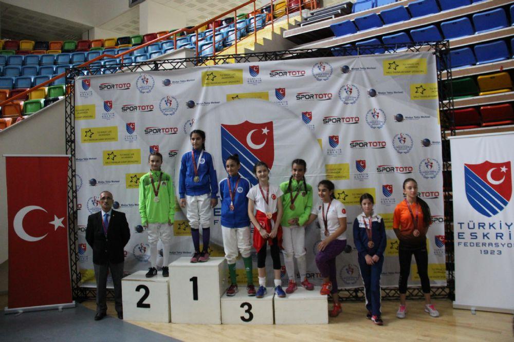 Konya'da erkeklerde U10 ve 14, kızlarda ise U12 epe müsabakaları oynandı
