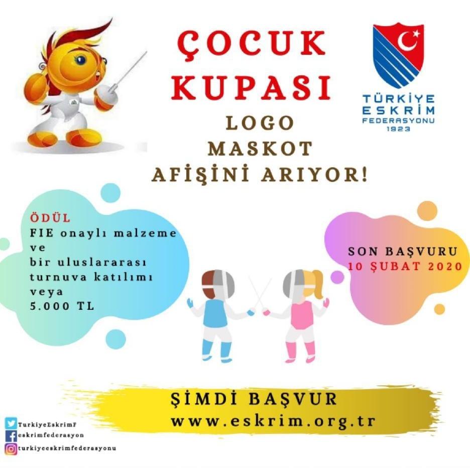 ÇOCUK KUPASI 'LOGO-MASKOT-AFİŞ'İNİ ARIYOR!