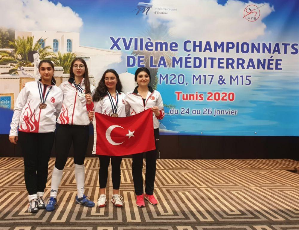 Eskrimcilerimizden Tunus'ta 3 Madalya Daha