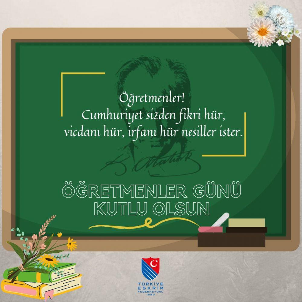 24 Kasım Öğretmenler Günü'nü Kutlarız